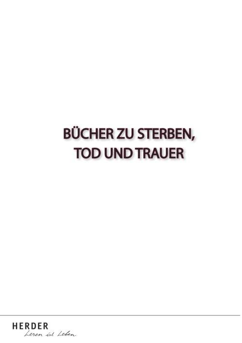 Verlag Herder Buchhandel: Aktion Sterben, Tod und Trauer
