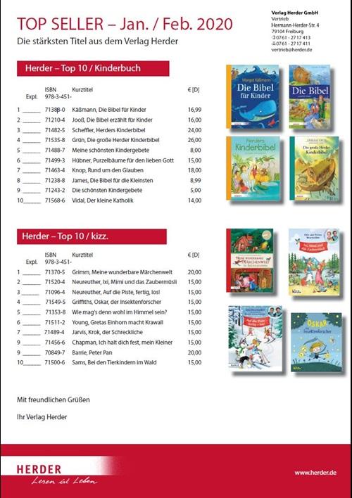 Verlag Herder Buchhandel: Topseller Kinderbuch