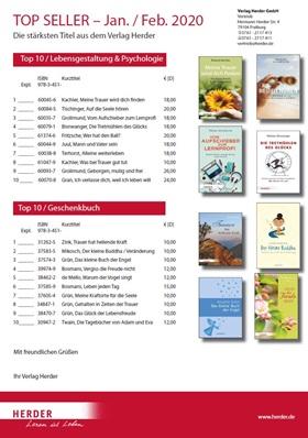 Verlag Herder Buchhandel: Topseller Psychologie, Geschenkbuch