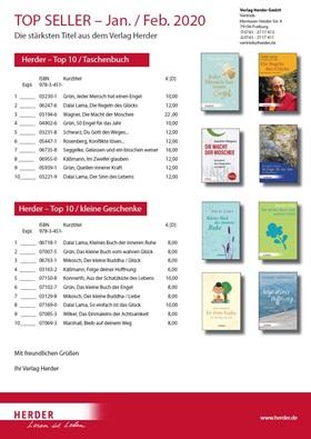 Verlag Herder Buchhandel: Topseller Taschenbuch