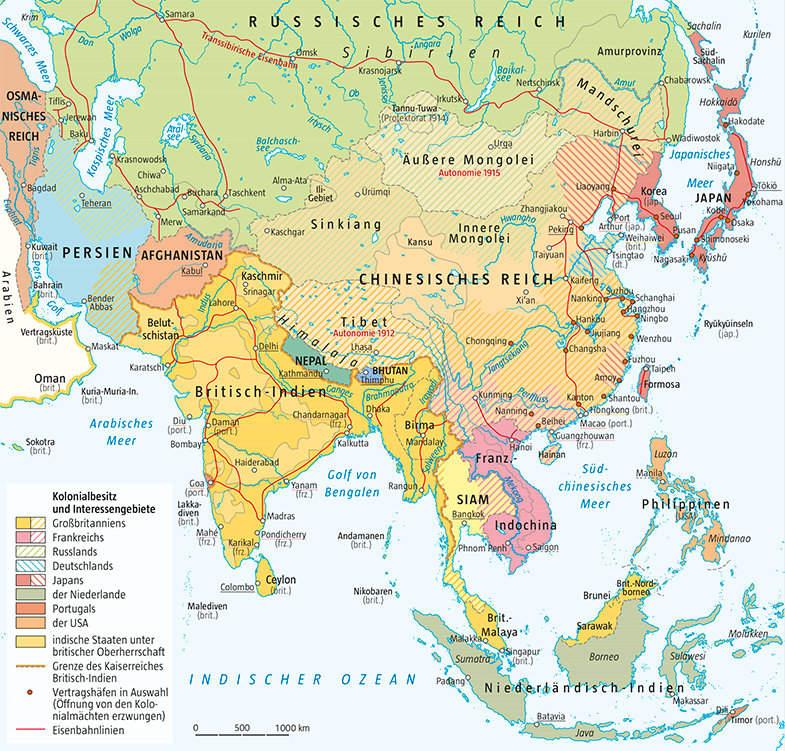 Asien am Vorabend des Ersten Weltkrieges