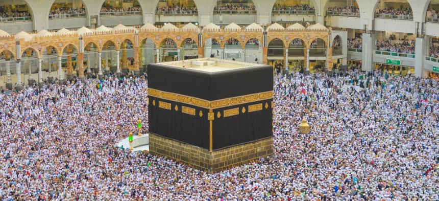 Muslim bei der Wallfahrt nach Mekka