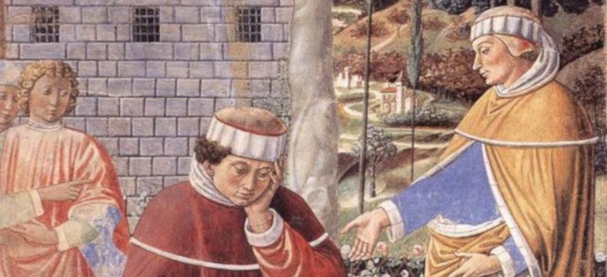 Erleuchtung des Kirchenvaters Augustinus (Gemälde von Benozzo Gozzoli)