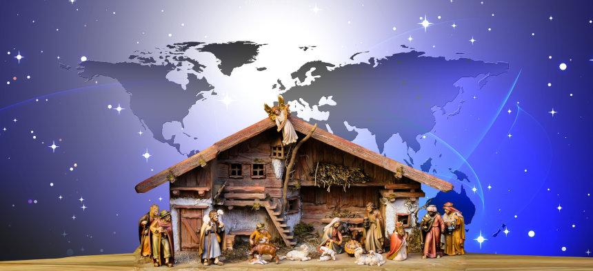 Weihnachtswunsch Weltfrieden