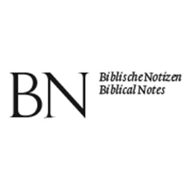 Biblische Notizen. Neue Folge