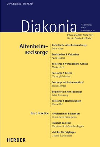 Diakonia. Internationale Zeitschrift für die Praxis der Kirche, Aktuelles Heft