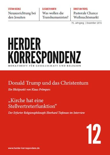 Herder Korrespondenz. Monatsheft für Gesellschaft und Religion, 2015, Heft 12