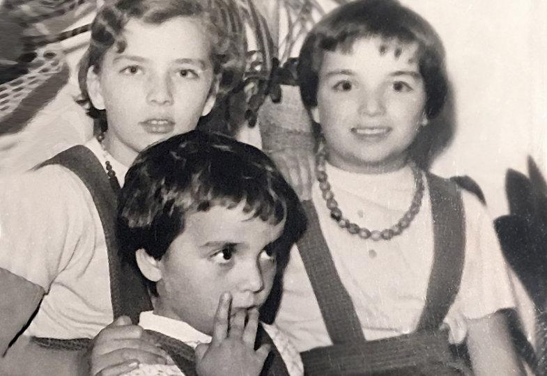 Margot Käßmann und Geschwister 1961