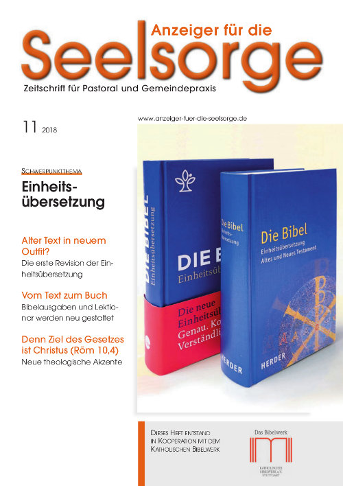 Anzeiger für die Seelsorge. Zeitschrift für Pastoral und Gemeindepraxis 11/2018