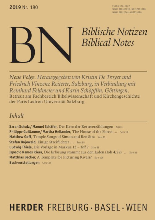 Biblische Notizen 180/2019