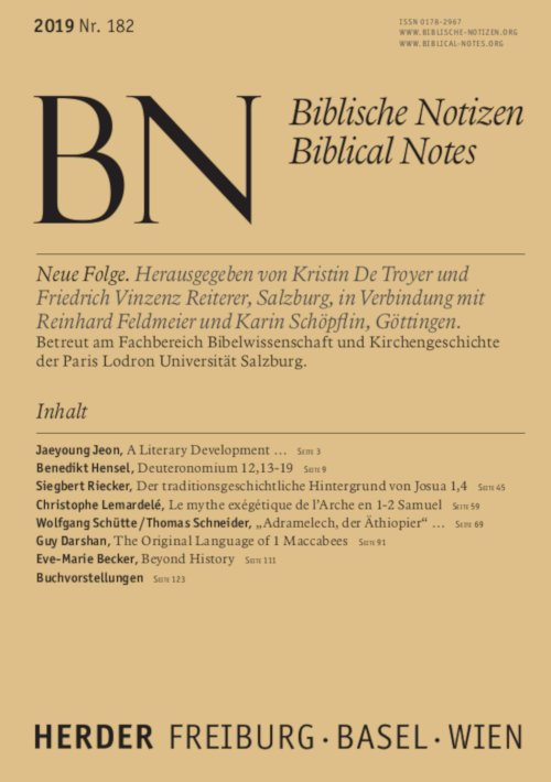 Biblische Notizen 182/2019