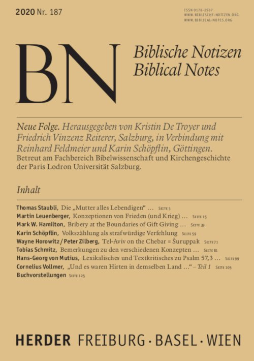 Biblische Notizen 187/2020
