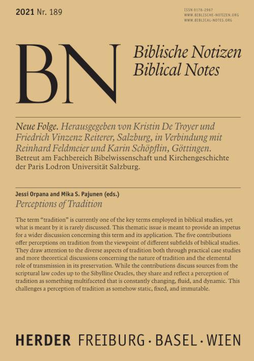 Biblische Notizen 189/2021
