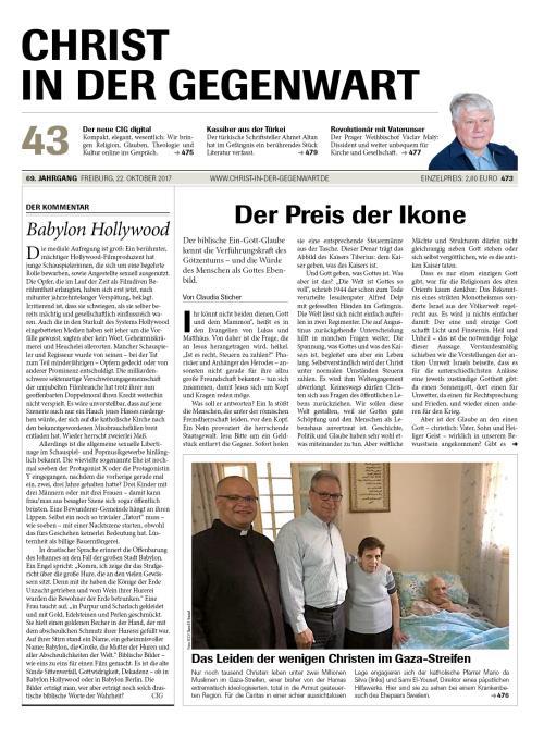 CHRIST IN DER GEGENWART 69. Jahrgang (2017) Nr. 43/2017