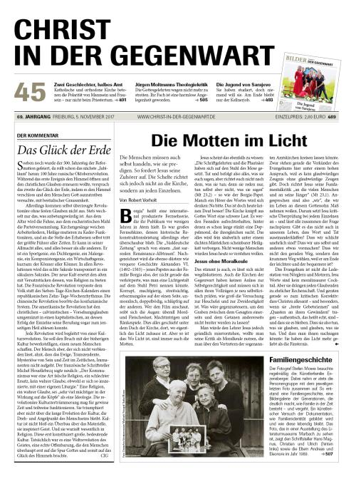 CHRIST IN DER GEGENWART 69. Jahrgang (2017) Nr. 45/2017