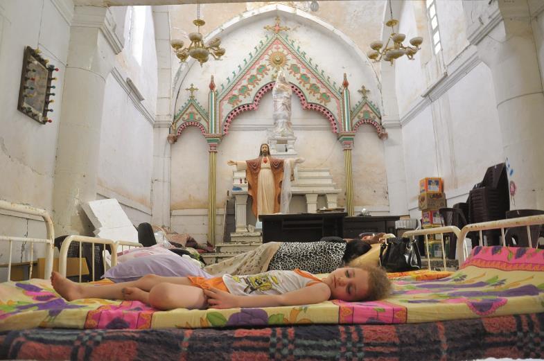 Geschlagen vom Schicksal: Viele Christen aus der Ninive-Ebene (Mossul und Karakosch) fanden zunächst Zuflucht in Ankawa, einem Vorort von Erbil.