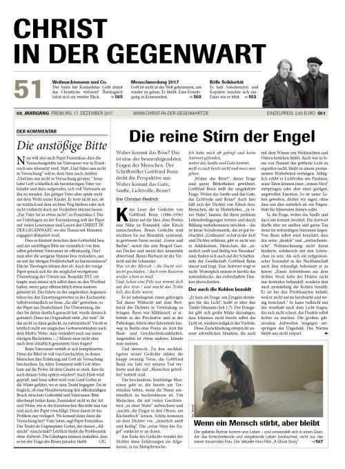 CHRIST IN DER GEGENWART 69. Jahrgang (2017) Nr. 51/2017