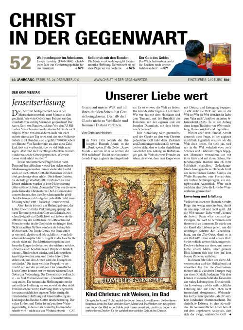 CHRIST IN DER GEGENWART 69. Jahrgang (2017) Nr. 52/2017