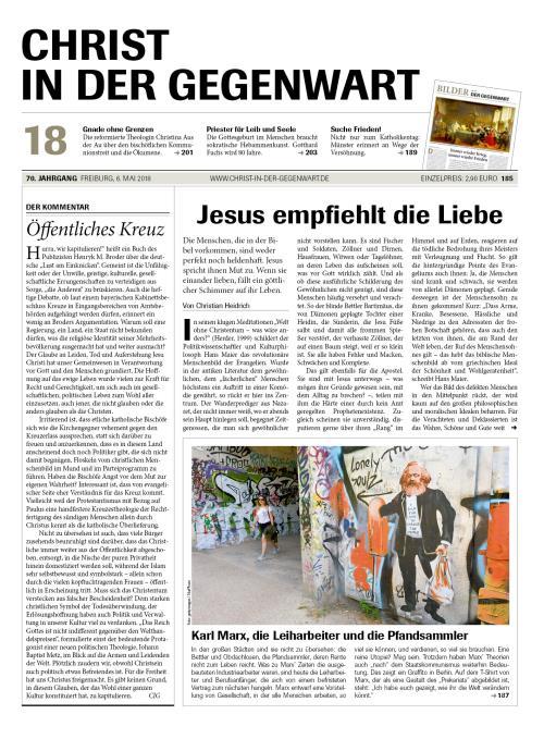 CHRIST IN DER GEGENWART 70. Jahrgang (2018) Nr. 18/2018