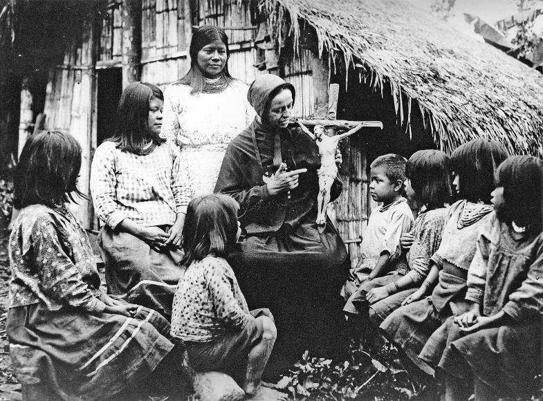 Katechese im peruanischen Urwald (um 1890). Mission ist heute ein belastetes Thema, das oft verschwiegen wird. Dabei hatte und hat es viele Dimensionen.