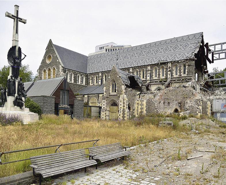 Die alte Kathedrale von Christchurch