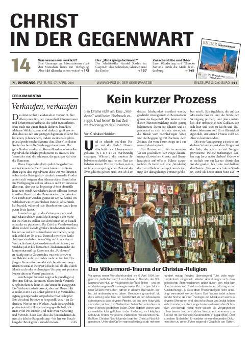 CHRIST IN DER GEGENWART 71. Jahrgang (2019) Nr. 14/2019