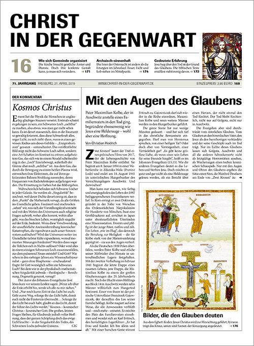 CHRIST IN DER GEGENWART 71. Jahrgang (2019) Nr. 16/2019