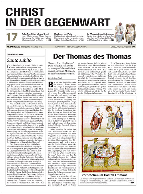 CHRIST IN DER GEGENWART 71. Jahrgang (2019) Nr. 17/2019