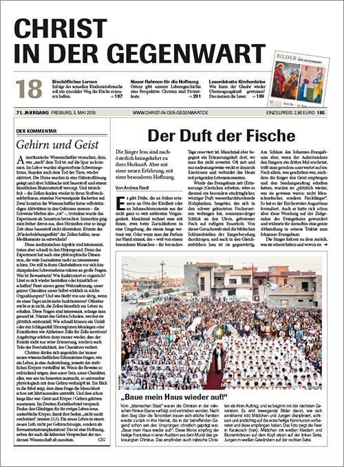 CHRIST IN DER GEGENWART 71. Jahrgang (2019) Nr. 18/2019