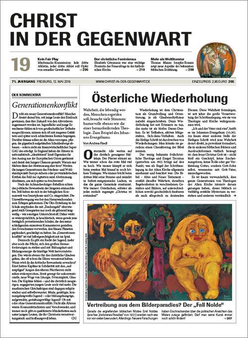 CHRIST IN DER GEGENWART 71. Jahrgang (2019) Nr. 19/2019