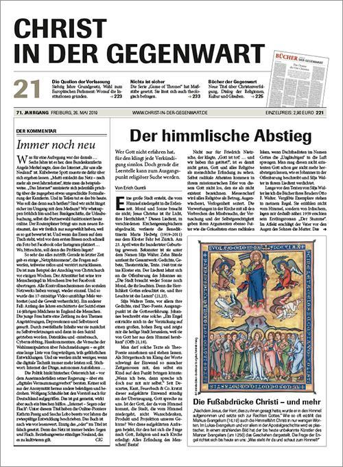 CHRIST IN DER GEGENWART 71. Jahrgang (2019) Nr. 21/2019