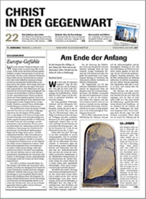 CHRIST IN DER GEGENWART 71. Jahrgang (2019) Nr. 22/2019