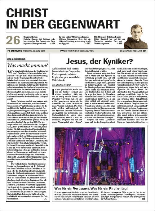 CHRIST IN DER GEGENWART 71. Jahrgang (2019) Nr. 26/2019
