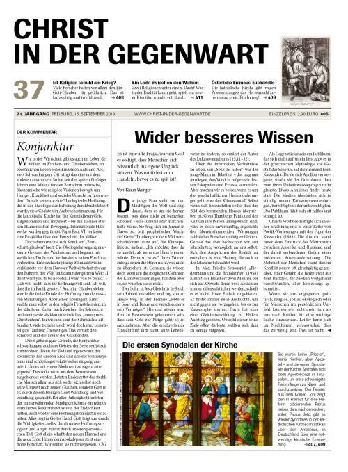 CHRIST IN DER GEGENWART 71. Jahrgang (2019) Nr. 37/2019