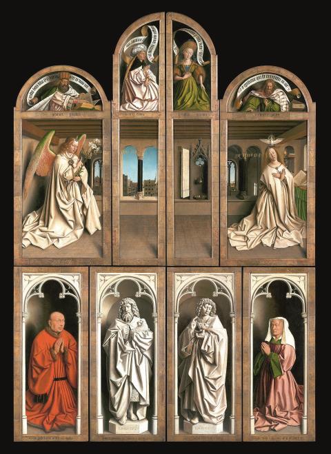 Hubert und Jan van Eyck: Der Genter Altar (Außenflügel) – ein Meilenstein der abendländischen Malerei