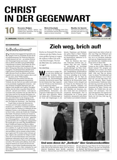 CHRIST IN DER GEGENWART 72. Jahrgang (2020) Nr. 10/2020
