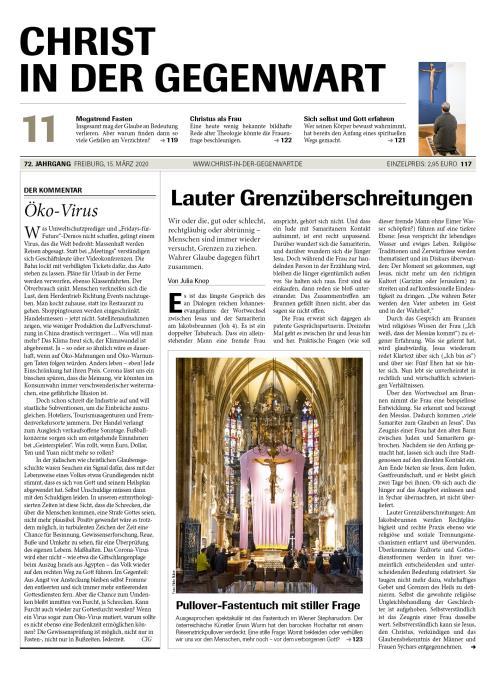 CHRIST IN DER GEGENWART 72. Jahrgang (2020) Nr. 11/2020