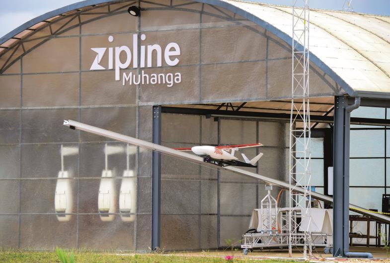 Startrampe Hoffnung. In Ruanda bringen Drohnen Blutkonserven in entlegene Gebiete. So rettet moderne Technik Menschenleben.