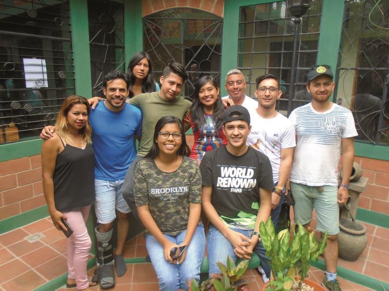 Glücklich und mit vielfältigen Eindrücken beschenkt sind diese lateinamerikanischen Freiwilligen von ihrem Einsatz in Deutschland zurückgekehrt.