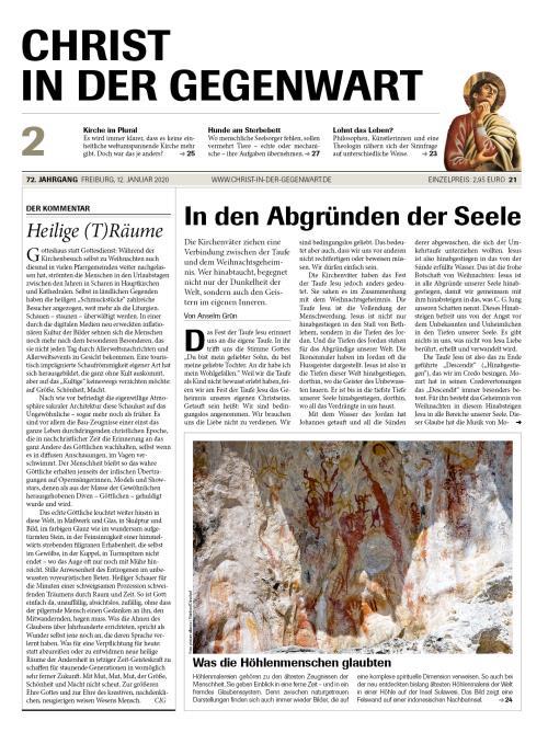 CHRIST IN DER GEGENWART 72. Jahrgang (2020) Nr. 2/2020