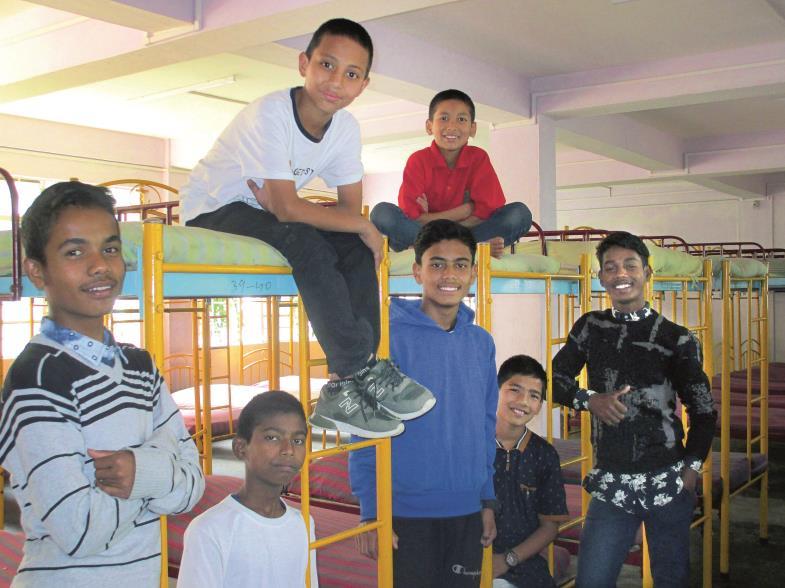 Sie können wieder lachen und von einer guten Zukunft träumen: Diese Jungs wurden von Ordensschwestern aus der Kinderarbeit befreit.