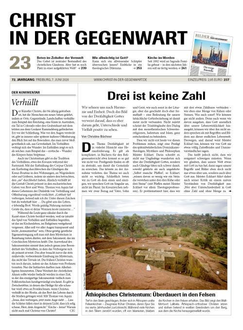 CHRIST IN DER GEGENWART 72. Jahrgang (2020) Nr. 23/2020