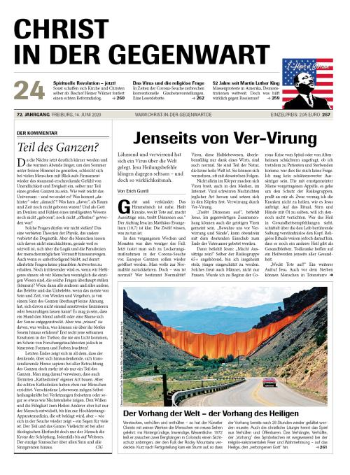 CHRIST IN DER GEGENWART 72. Jahrgang (2020) Nr. 24/2020