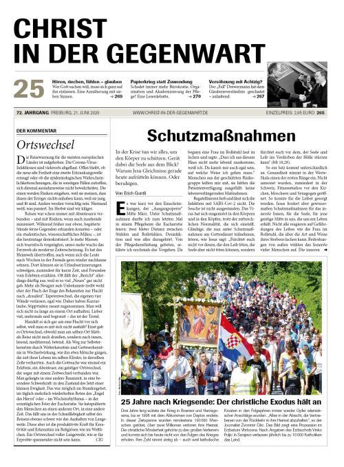CHRIST IN DER GEGENWART 72. Jahrgang (2020) Nr. 25/2020
