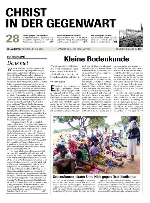 CHRIST IN DER GEGENWART 72. Jahrgang (2020) Nr. 28/2020