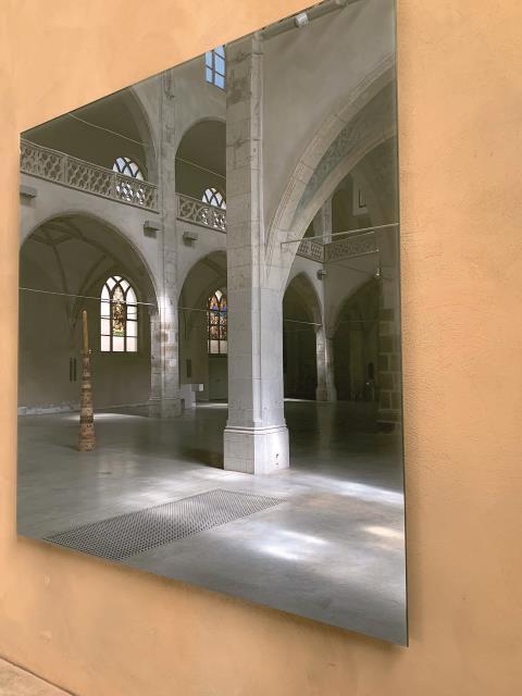 """Gerhard Richter, """"Grauer Spiegel"""" in der Kunststation Sankt Peter in Köln (2020)"""