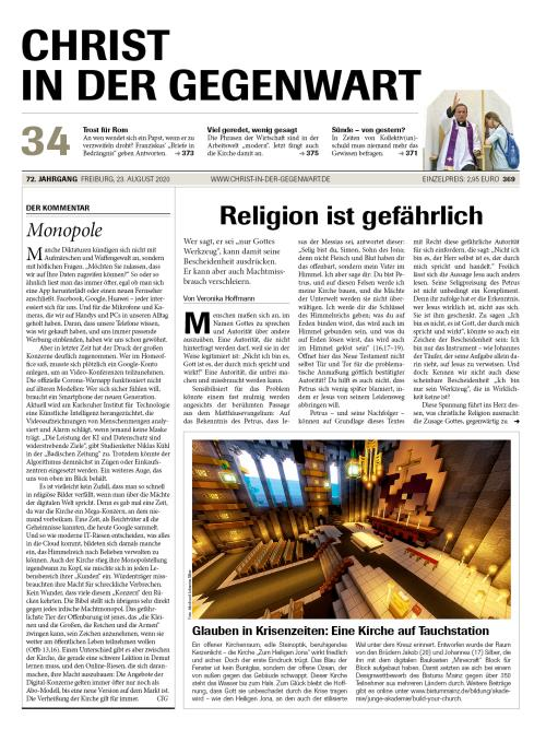 CHRIST IN DER GEGENWART 72. Jahrgang (2020) Nr. 34/2020