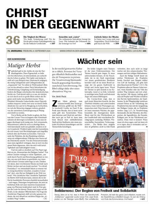 CHRIST IN DER GEGENWART 72. Jahrgang (2020) Nr. 36/2020