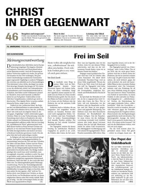 CHRIST IN DER GEGENWART 72. Jahrgang (2020) Nr. 46/2020