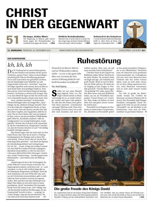 CHRIST IN DER GEGENWART 72. Jahrgang (2020) Nr. 51/2020